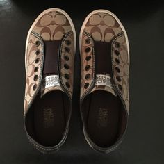 Coach Sneakers Cute Brown Coach Sneakers. Just slip them on. You can pair them with some boyfriend jeans, skinny jeans, or even shorts. Coach Shoes Sneakers