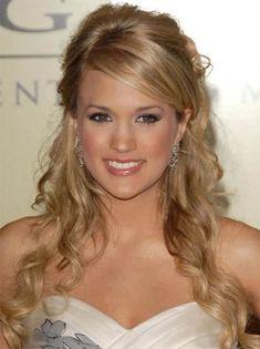 Carrie Underwood Half Updo