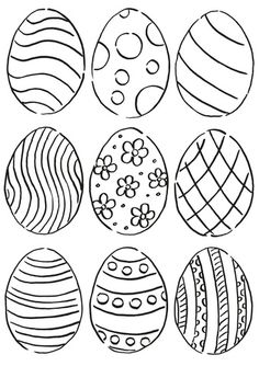 coloring pages easter eggs printable pictures | 68 Best Easter Egg Coloring Pages images in 2019 ...