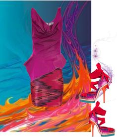 """Color Shock from Dior and Westwood"" by flowerchild805 ❤ liked on Polyvore"