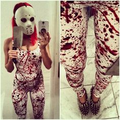 Black Milk Clothing Blood Splatter, Jeffrey Campbell Spiky Heels