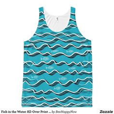 Fish in the Water All-Over Print Tank Top