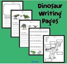 Dinosaur themed writing pages
