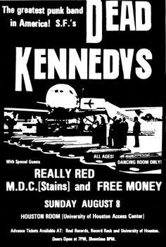 Dead kennedys / M.D.C. vintage punk rock flyer by eXXXploitees