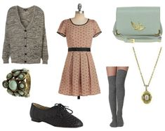 Sylvia Plath Inspired Outfit 1- I love this idea- author inspired fashion! I hope they do it with their books as well.