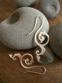 happiness of being earrings - Historical scrollwork earrings  | I would prefer them in gold but still really beautiful