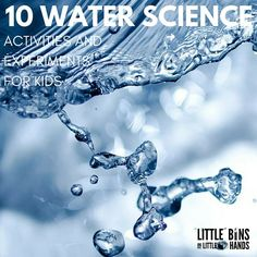 Simple water science activities for home, school, or camp! Explore water with easy to set up experiments and activities for kids to try. Fun summer science.