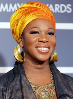 India Arie often wears the most beautiful head wraps.