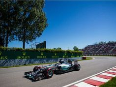 Mercedes Formula 1 driver Lewis Hamilton of Great Britain exits turn three during the third practice session for the F1 Canadian Grand Prix at Circuit Gilles-Villeneuve in Montreal on Saturday, June 6, 2015.