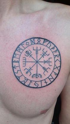 Runic Compass, by Haffi at Íslenska húðflúrstofan, Reykjavik, Iceland