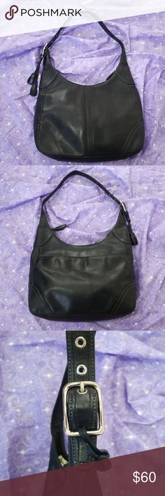 5b846b4f6de Coach Hamilton Black Leather Hobo Purse Coach - classic black leather  Hamilton style hobo purse with
