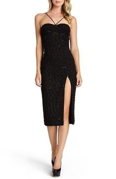 Dress the Population 'Luciana' Textured Knit Sheath Dress available at #Nordstrom