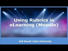 Using Rubrics for Assignments in Moodle