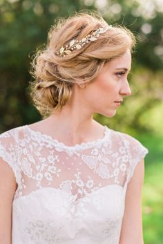 Laurel Leaf Headband Laurel Leaf Hair Vine by ABitofLoveWedding