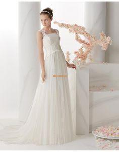 Tyl Bez rukávů Zip Svatební šaty 2014