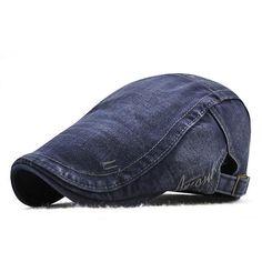 uk availability d2f15 2052c Mens Cotton Outdoor Sunshade Newsboy Cabbie Hat Beret Cap