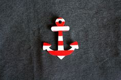 DIY - Painted Anchor Pin by Caught On A Whim, via Flickr