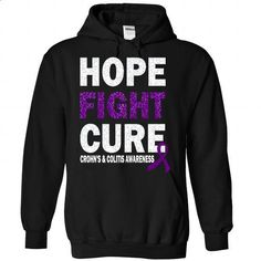 Cure - Crohns & Colitis - #tshirts #fall hoodie. PURCHASE NOW => https://www.sunfrog.com/LifeStyle/Cure--Crohn-Black-Hoodie.html?68278