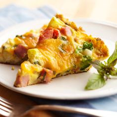 frittata.....We use ham in this version of the classic Italian egg dish, but you can mix and match any veggies and meat you have on hand.