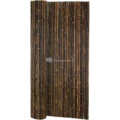 Bamboemat natuurlijk zwart grof 250 x 150 (E92,-)