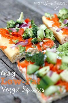 Easy Low-Fat Veggie Squares