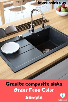 💎Single bowl, drop-in granite composite sink Luxor - A Lavello Luxor is a premium, composite granite kitchen sink that is made to last, look and p - Granite Kitchen Sinks, Best Kitchen Sinks, Kitchen Sink Design, Modern Kitchen Design, New Kitchen, Kitchen Decor, Kitchen Basin Sink, Single Sink Kitchen, Gold Kitchen