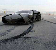 モデルはランボルギーニと聞いていたが、本当にダークナイトで登場するタンブラーみたい。:Lamborghini Ankonian Concept