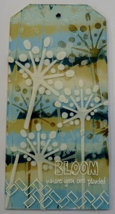 PaperArtsy: 2015 #15 Acrylic Tag {by Lauren Hatwell}
