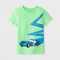 Find product information, ratings and reviews for Toddler Boys' Vehicle Short Sleeve T-Shirt - Cat & Jack™ Green online on Target.com.