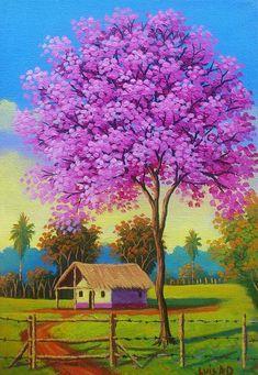 on - Art Painting Scenery Paintings, Oil Pastel Paintings, Oil Pastel Drawings, Oil Pastel Art, Indian Art Paintings, Abstract Paintings, Painting Art, Art Village, Landscape Drawings