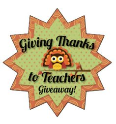 Teach123: Giving Thanks to Teachers Giveaway Day 8
