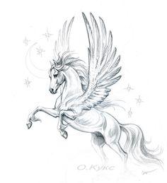 Pencil on paper 2009 Pencil on paper, 2009 diy tattoo images - tattoo images drawings - tattoo images women - tattoo imag Horse Drawings, Animal Drawings, Tattoo Drawings, Art Drawings, Pegasus Tattoo, Unicorn Tattoos, Winged Horse, Arte Sketchbook, Unicorn Art