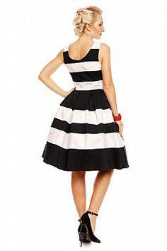 dd86a63967b7 vintage styled φόρεμα ριγέ Annabelle rose
