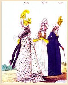 mode Regency.  Galerie de la mode.  Nikolaus von Heideloff.