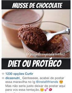 1- musse de chocolate protéico