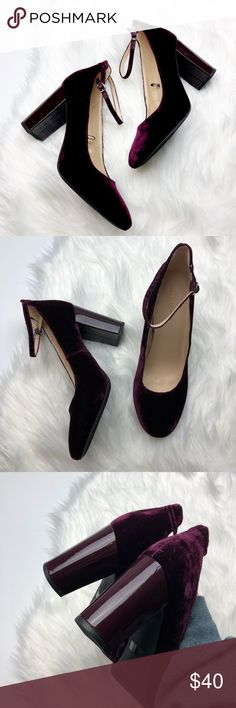 New Marc Fisher Purple Velvet Pumps Brand new without box. Size 10. Purple velvet with patent heel. No trades!! 0251840 Marc Fisher Shoes Heels