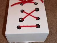 DIY shoe tying practice box from a cardboard box. Simple awesomeness.