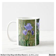 Happy Birthday, Mom Mug with Blue Mauve Irises Happy 75th Birthday, Happy Birthday Mother, Birthday Mug, Best Birthday Gifts, Mother Gifts, Gifts For Mom, Mothering Sunday, Mother's Day Mugs, Friend Mugs