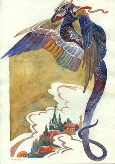 Flying dragon by Unita-N.deviantart.com on @deviantART