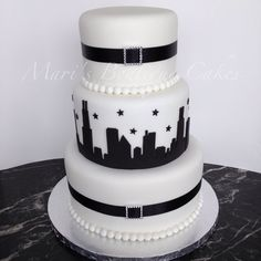 Chicago Themed Cake - by Mari's Boutique Cakes