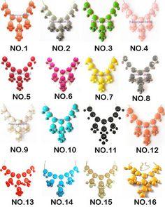 JCrew J Crew Colorful Bubble Bib Statement Party Summer Necklace Multi Colors | eBay