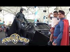 Meeting Our Favorite Superheroes Batman Superman At Warner Bros Movie Wo...