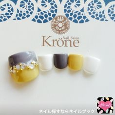 Cute color combo for toe nail art Toe Nail Art, Nail Art Diy, Diy Nails, Feet Nail Design, Toe Nail Designs, Feet Nails, Japanese Nails, Manicure E Pedicure, Fabulous Nails