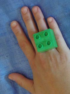 (1) δαχτυλίδι lego μεγάλο πράσινο