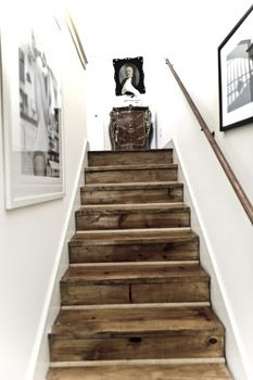 wood stairs reclaimed barn board would be fantastic