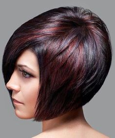 Ombre Highlights On Short Hair Bob Hairstyle Form The Side Brown