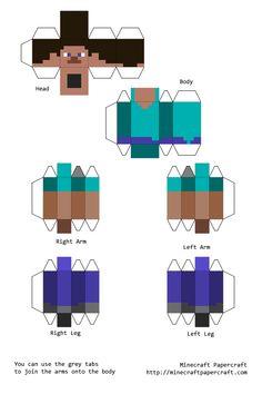 Minecraft Papercraft Steve (Simplecraft)