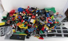 Lego Blocks Bricks 7 pounds 19 Minifigs Mixed Lot Books 2200+ Pieces #LEGO