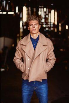 Model Mikkel G. Jensen in Samsøe & Samsøe jeans in Euroman.