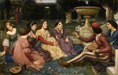 John William Waterhouse, 1916, The Decameron, Victorian Treasures - Walker Art Gallery, Liverpool museums